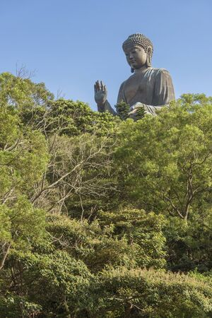 Tian Tan Buddha, aka the Big Buddha, is a large bronze statue of Sakyamuni Buddha and located at Ngong Ping, Lantau Island in Hong Kong
