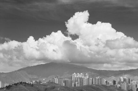 Cloud over skyline of Hong Kong city