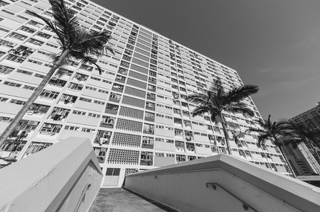 High rise residential buidling in public estate in Hong Kong city 新聞圖片