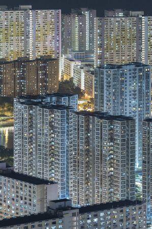 Alto edificio residenziale nella città di Hong Kong