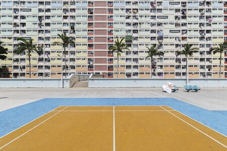 Playground of public estate in Hong Kong city