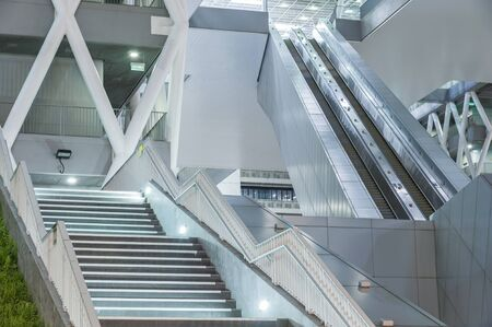 escalator and stairway of contemporary building