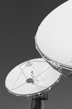 Satellite Communication Dish on top of TV Station Stock fotó