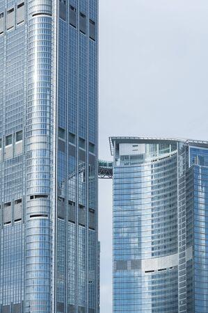 Esterno dell'architettura moderna. Costruire sfondo astratto