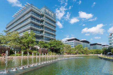 Modern office building in Hong Kong city