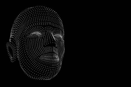illuminated dots connected to thinkers, symbolizing the meaning of artificial intelligence