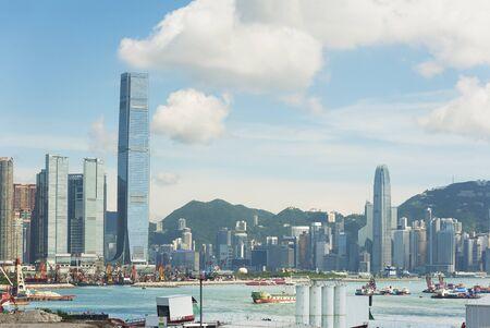 Horizon de Victoria Harbour de la ville de Hong Kong
