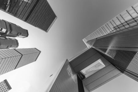 Exterior of modern building. Architecture abstract background