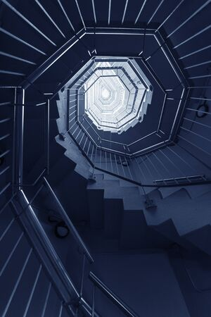 Spiral staircase. Architecture abstract background pattern