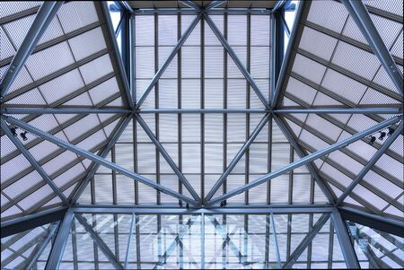 Interior of modern building. Architecture abstract background