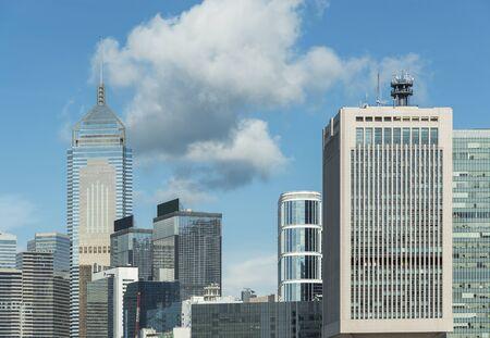 Skyline of downtown of Hong Kong city Фото со стока