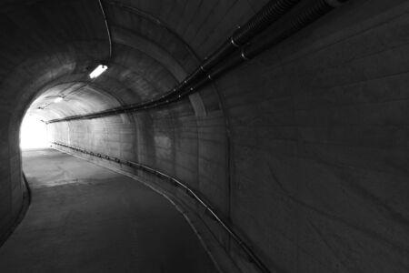 Light At The End Of Stone Tunnel Фото со стока