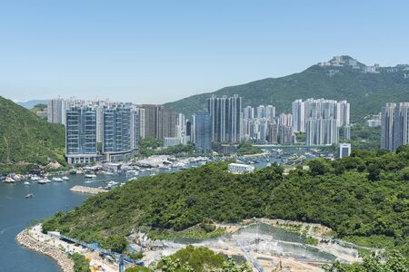 Residential district of Hong Kong city