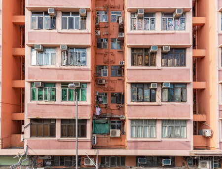 Exterior of residential buidling in Hong Kong city