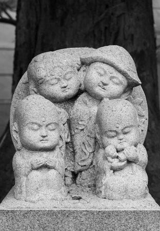 Japanese Jizo sculpture in Kyoto, Japan.