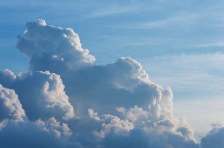 dramatic cumulonimbus cloud. Natural abstract background Stock Photo