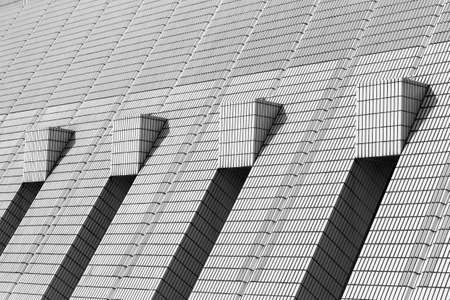Exterior of modern architecture. Building abstract background pattern Foto de archivo