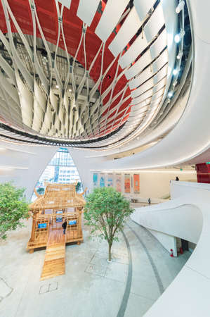 Hong Kong, China  - 17 January, 2019 :  Xiqu Centre, a world-class arts venue for xiqu or Chinese opera, is seen in the West Kowloon Cultural District, Hong Kong.