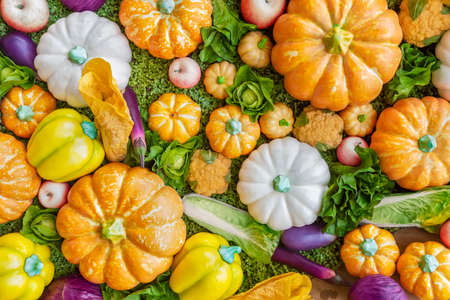 Assortment of colorful dummy fresh fruit and vegetable Фото со стока