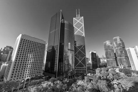 Skyline of Hong Kong city Фото со стока