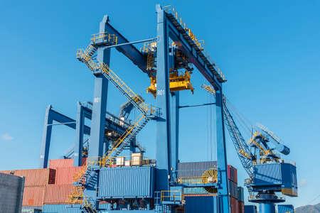Crate in cargo port in Hong Kong