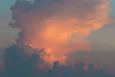 cloudscape at sunset with dramatic red clouds 스톡 콘텐츠