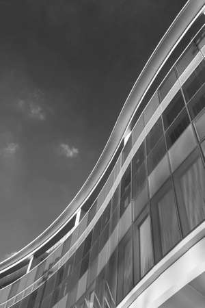 Exterior of modern architecture. Building abstract background