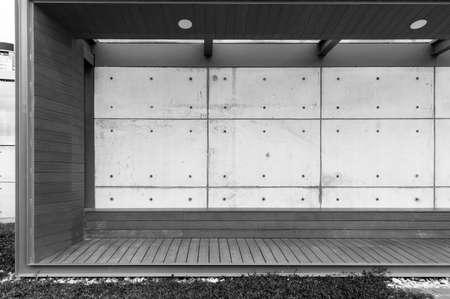Interior of modern pavilion in public park