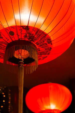 Red Chinese Lantern for Chinese new year 스톡 콘텐츠