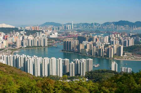 Panorama of Hong Kong city of China
