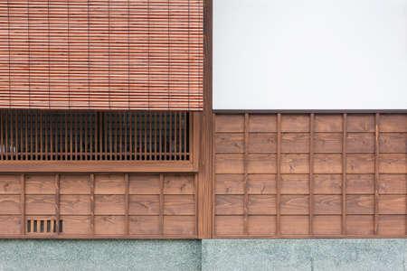 Details of traditional Japanese house in Kanazawa, Japan