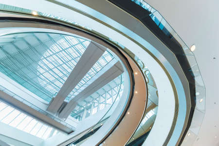Modern building interior abstract background