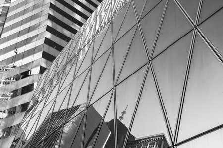 Exterior of modern architecture in downtown. Building abstract background 스톡 콘텐츠