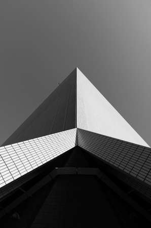 Exterior of modern architecture. Building abstract background pattern 스톡 콘텐츠
