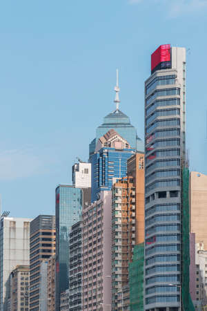 High rise office building in downtown of Hong Kong city 版權商用圖片