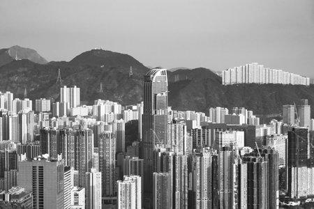 Skyline of Hong Kong city 版權商用圖片