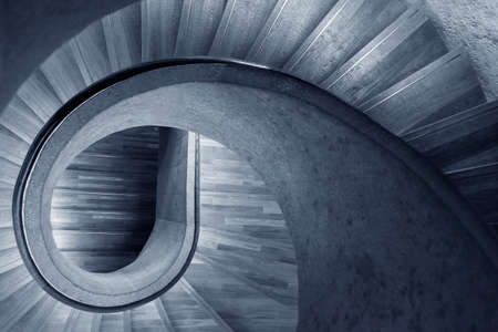 Modern spiral staircase. Contemporary architecture abstract background 版權商用圖片