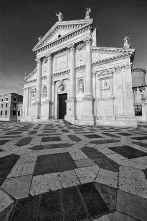Historical landmark San Giorgio Maggiore Church in Venice, Italy, Europe 版權商用圖片
