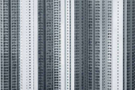 Exterior of high rise residential building of public Estate in Hong Kong 版權商用圖片