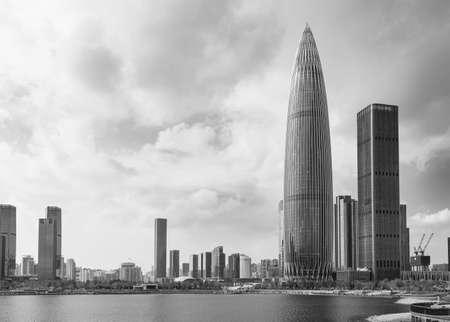 Skyline of downtown of Shenzhen city, China