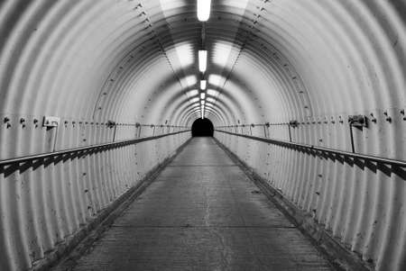 Interior view of an empty tunnel
