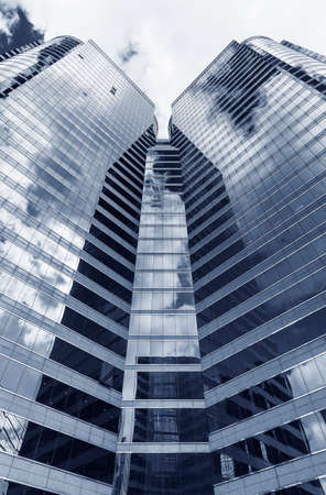 Exterior of office building. Modern building abstract background pattern