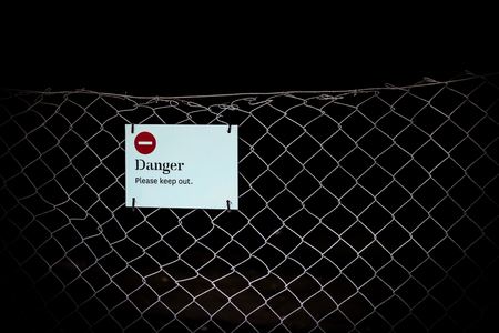 Danger Please keep out Stock Photo
