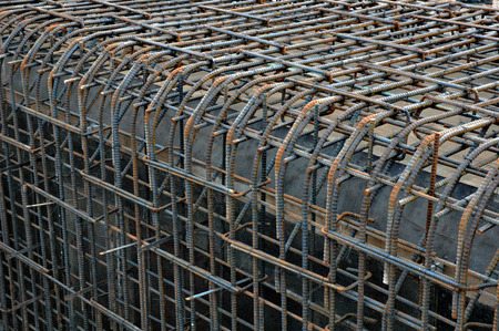 reinforcing: a reinforcing rod Stock Photo