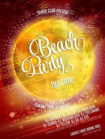 beach party: Beach Party Poster. Vector