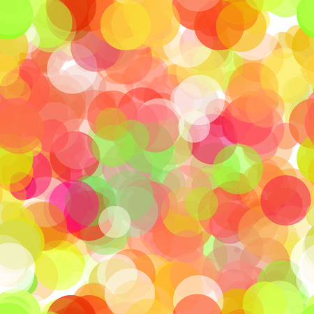 Abstract vector seamless background with colored circles on white Illustration