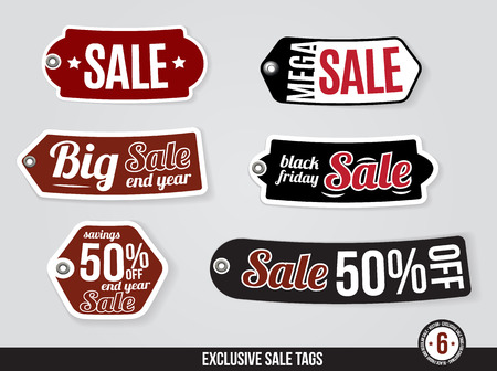 last year: Exclusive Vector Sale Tags. Labels
