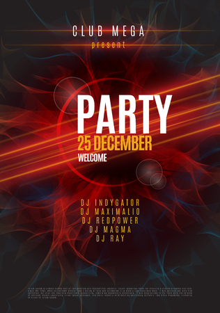 Dance Party Poster Background Template - Vector Illustration 일러스트