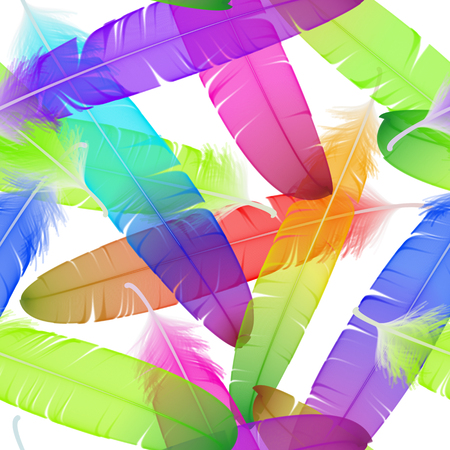 workmanship: colorful seamless feather pattern Illustration