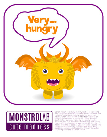 creepy alien: Vector Illustration of a monster saying quote